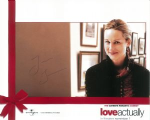 Laura Linney - LOVE ACTUALLY -  10 x 8  genuine signed autograph 10741